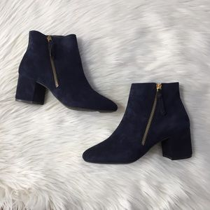 Cole Haan Saylor Grand Blue Suede Ankle Bootie